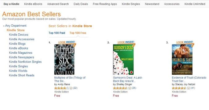 Number 1 in Kindle Store